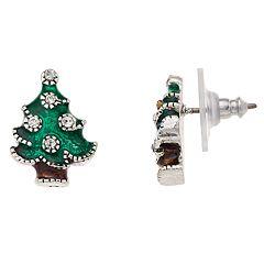 Napier Christmas Tree Stud Earrings