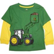 Toddler Boy John Deere Bucket Loader Mock Layer Graphic Tee