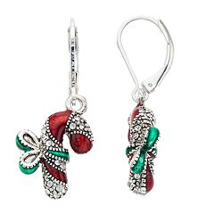 Napier Candy Cane Drop Earrings
