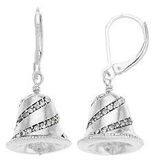 Napier Silver Tone Bell Drop Earrings