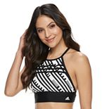 Women's adidas High-Neck Swim Crop Top