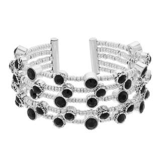 Dana Buchman Simulated Crystal Textured Multirow Stretch Bracelet