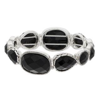 Dana Buchman Simulated Crystal Textured Stretch Bracelet