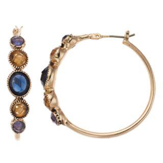Dana Buchman Simulated Crystal Textured Hoop Earrings