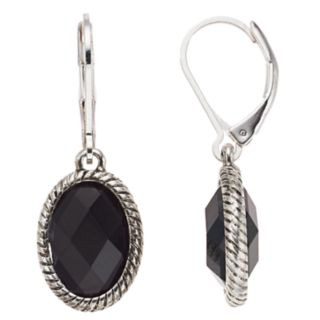 Dana Buchman Simulated Crystal Textured Drop Earrings