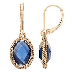 Dana Buchman Simulated Crystal Textured Drop Earrings