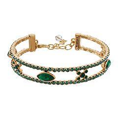 Napier Green Crystal Coil Bracelet