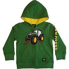 Toddler Boy John Deere Tractor Zip Hoodie