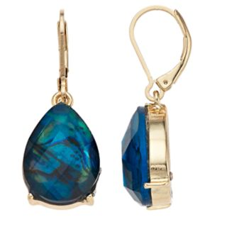 Napier Blue Teardrop Earrings