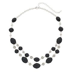 Napier Double Strand Beaded Necklace