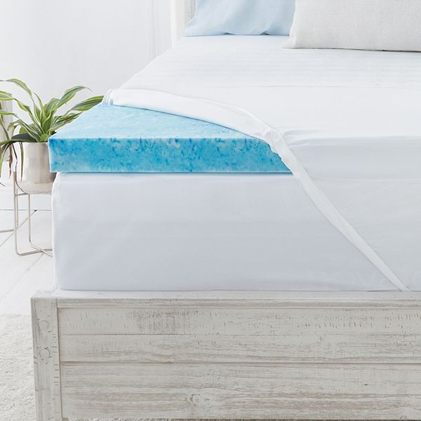 Serta® 3 inch Soothing Cool Gel Memory Foam Mattress Topper
