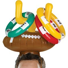 Wembley Inflatable Goal Post Ring Toss Game Football Hat