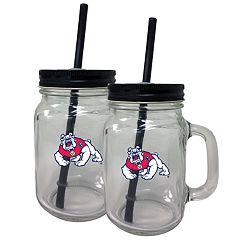 Fresno State Bulldogs Mason Jar Set