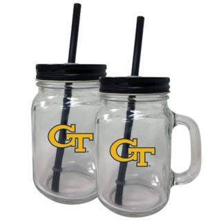 Georgia Tech Yellow Jackets Mason Jar Set
