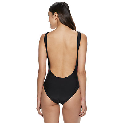 Women's adidas Solid Logo One-Piece Swimsuit