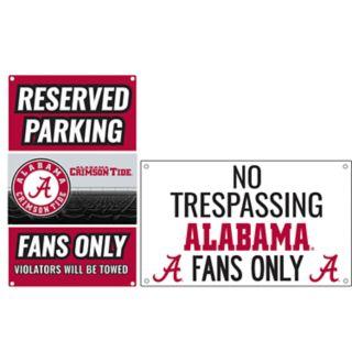 Alabama Crimson Tide Metal Sign Set