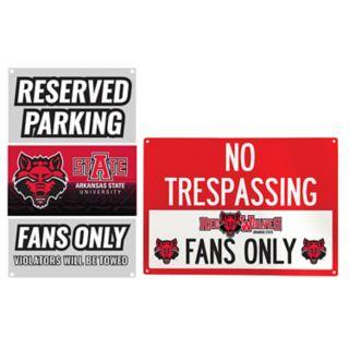 Arkansas State Red Wolves Metal Sign Set