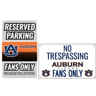 Auburn Tigers Metal Sign Set