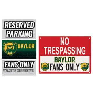 Baylor Bears Metal Sign Set