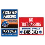Boise State Broncos Metal Sign Set