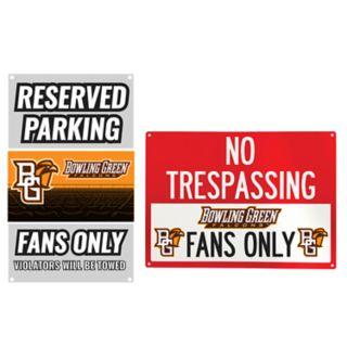 Bowling Green Falcons Metal Sign Set