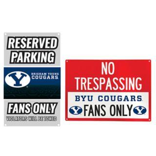BYU Cougars Metal Sign Set