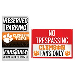 Clemson Tigers Metal Sign Set