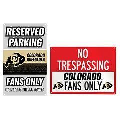 Colorado Buffaloes Metal Sign Set