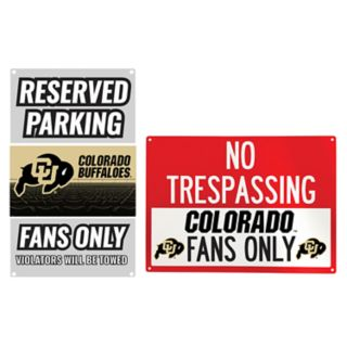 Colorado Buffaloes Metal Sign Set