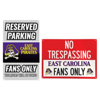 East Carolina Pirates Metal Sign Set