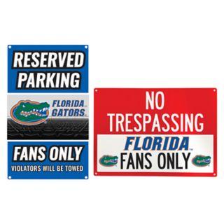 Florida Gators Metal Sign Set