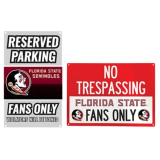 Florida State Seminoles Metal Sign Set