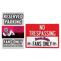 Fresno State Bulldogs Metal Sign Set