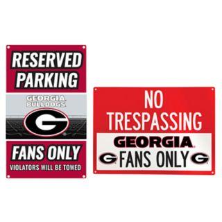 Georgia Bulldogs Metal Sign Set