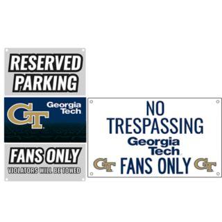 Georgia Tech Yellow Jackets Metal Sign Set