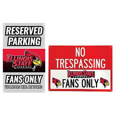 Illinois State Redbirds Metal Sign Set