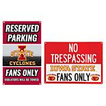 Iowa State Cyclones Metal Sign Set