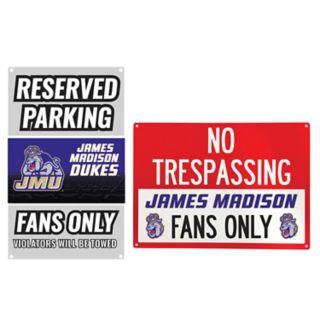 James Madison Dukes Metal Sign Set