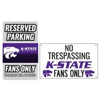 Kansas State Wildcats Metal Sign Set