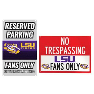 LSU Tigers Metal Sign Set