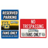 Marquette Golden Eagles Metal Sign Set