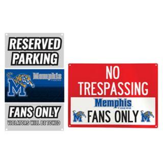 Memphis Tigers Metal Sign Set