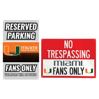 Miami Hurricanes Metal Sign Set