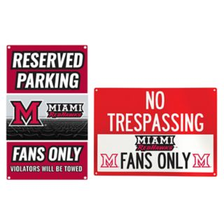 Miami RedHawks Metal Sign Set