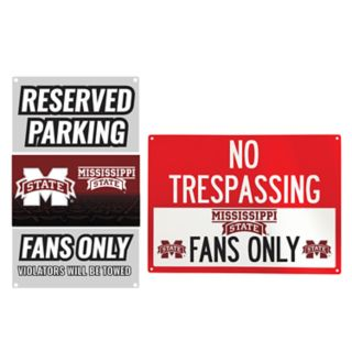 Mississippi State Bulldogs Metal Sign Set