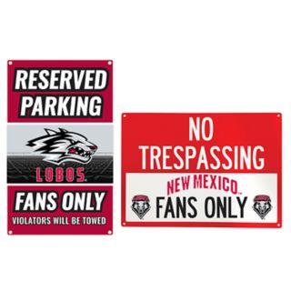 New Mexico Lobos Metal Sign Set