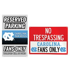North Carolina Tar Heels Metal Sign Set