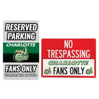 Charlotte 49ers Metal Sign Set