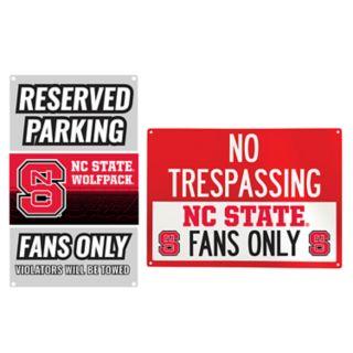 North Carolina State Wolfpack Metal Sign Set