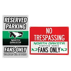 North Dakota Fighting Hawks Metal Sign Set